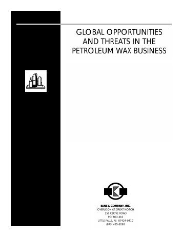global opportunities and threats in the petroleum ... - Kline & Company