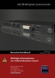 K&F CD 24 Digitaler Systemcontroller ... - Kling und Freitag