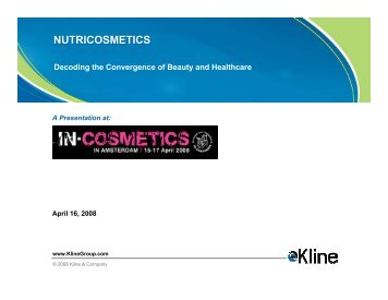 Nutricosmetics - Decoding the Convergence of ... - Kline & Company