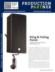 PRODUCTION PARTNER - Kling & Freitag