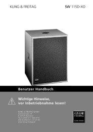 KLING & FREITAG SW 115D-XO Benutzer ... - Kling und Freitag