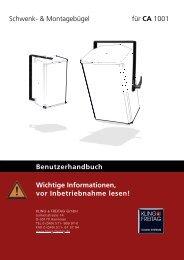 Schwenk- & Montagebügel für CA 1001 - Kling und Freitag