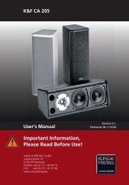 User's Manual - Kling & Freitag