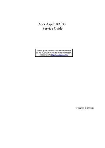 Acer Aspire 8935G Service Guide - tim.id.au