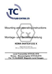 Montage- und Betriebsanleitung Mounting and operating instructions