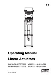 Operating Manual Linear Actuators - Klinger Danmark A/S