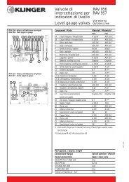 Valvole di intercettazione per indicatori di livello Level gauge valves ...