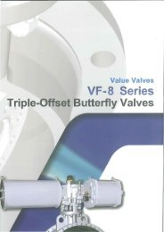 VF-8 Series Triple-Offset Butterfly Valves