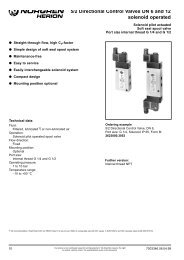 5/2 Directional Control Valves DN 6 and 12 solenoid operated
