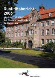 Qualitätsbericht 2006 - LVR-Klinik Bedburg-Hau ...