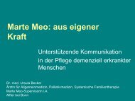 Wirkungsweise von Marte Meo - LVR-Klinik Bonn