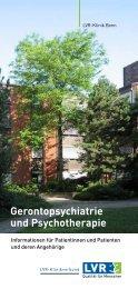 Abteilung Gerontopsychiatrie und Psychotherapie - LVR-Klinik Bonn