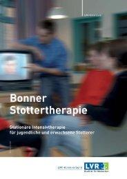 Vorstellung der Therapiekonzeption - LVR-Klinik Bonn
