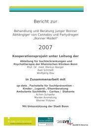 Cannabis und Partydrogen - Jahresbericht 2007 - LVR-Klinik Bonn