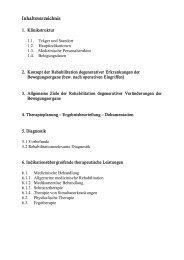Orthopädische Rehabilitation - Klinik Reinhardshöhe