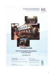Gastroenterlogie - Klinik Reinhardshöhe