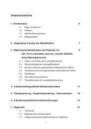lymphologische Rehabilitation - Klinik Reinhardshöhe