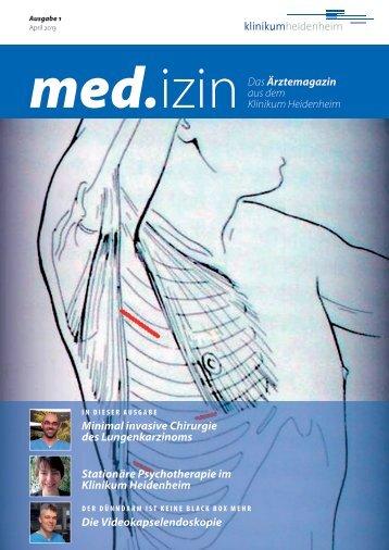 Minimal invasive Chirurgie des Lungenkarzinoms Stationäre ...