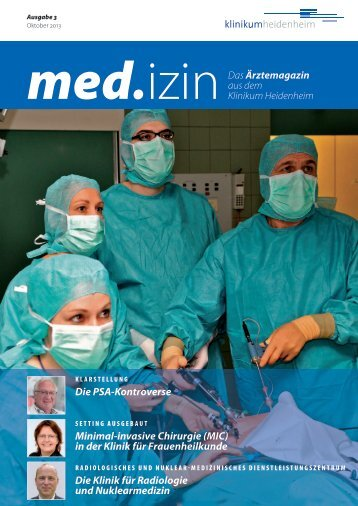 Die PSA-Kontroverse Minimal-invasive Chirurgie (MIC) in der Klinik ...