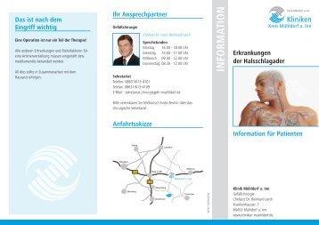 Info-Flyer Halsschlagader - Kliniken Kreis Mühldorf am Inn