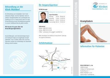 Info-Flyer Krampfadern - Kliniken Kreis Mühldorf am Inn