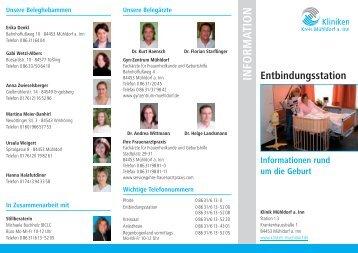 Info-Flyer Entbindung - Kliniken Kreis Mühldorf am Inn