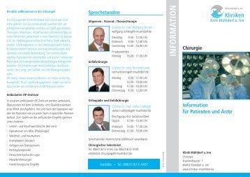 Info-Flyer Chirurgie - Kliniken Kreis Mühldorf am Inn