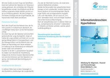 Info-Flyer - Kliniken Kreis Mühldorf am Inn