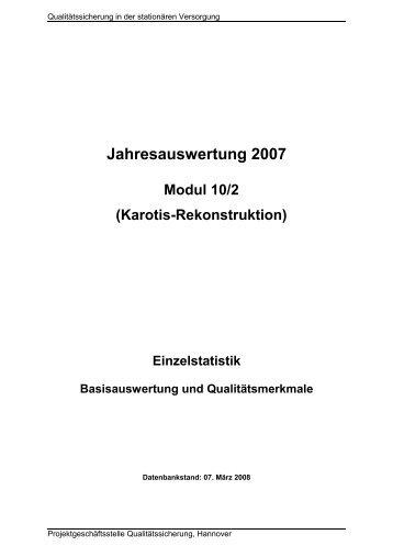 Karotis-Revaskularisation - offen chirurgisch (Modul 10/2) - GQH