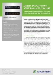 Daxten SCOUTcombo KVM Switch PS/2 & USB - Daxten GmbH