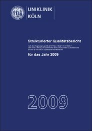 Uniklinik Köln - Strukturierter Qualitätsbericht 2009