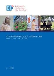 Qualitätsbericht 2008 (PDF) - St. Elisabeth-Krankenhaus GmbH