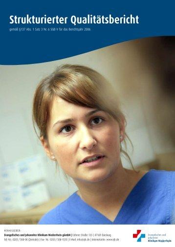 Strukturierter Qualitätsbericht - Evangelisches Klinikum Niederrhein