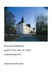 Strukturierter Qualitätsbericht gemäß § 137 Abs. 3 Satz 1 Nr. 4 SGB ...
