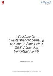 Strukturierter Qualitätsbericht gemäß § 137 Abs - St. Marien-Hospital