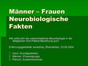 Männer – Frauen Neurobiologische Fakten - Klinik Schützen ...