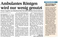 Zeitungsartikel aus der HZ v. 07.05.2013 - Klinikum Bad Hersfeld ...