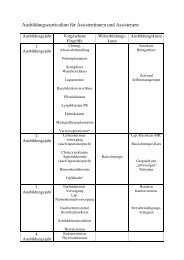 Ausbildungscurriculum AssistentenInnen - Klinikum Bad Hersfeld ...
