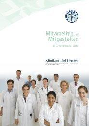 Facharztbroschüre zum Download - Klinikum Bad Hersfeld GmbH