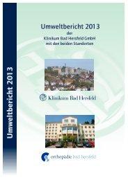 Umweltbericht 2013 - Klinikum Bad Hersfeld GmbH