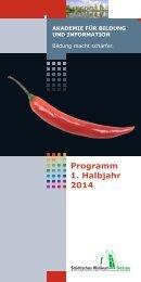 VDruck Programmheft Akademie 1.2014-2013.11.28.indd