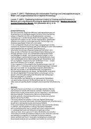 Luxem, T. (2011).optimierung der individuellen Trainings und - Dägak