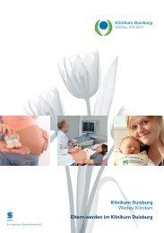 Eltern werden - Eltern sein - Klinikum Duisburg