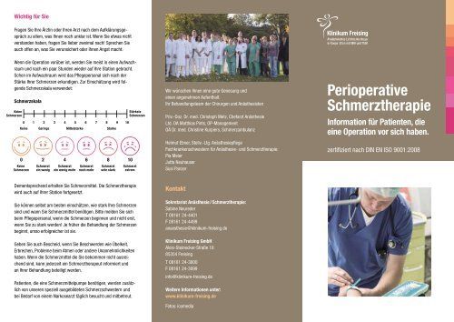Perioperative Schmerztherapie - Klinikum Freising