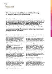 Mitarbeitermotivation als Erfolgsmotor im Klinikum Freising