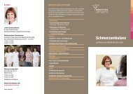 Flyer zur Schmerzambulanz (PDF) - Klinikum Freising