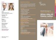 Flyer Diabetologie - Klinikum Freising