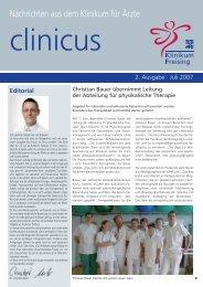 clinicus Juli 2007 - Klinikum Freising