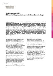 Klinikum Freising präsentiert neues einheitliches Corporate Design