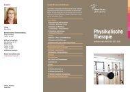 Flyer Physikalische Therapie - Klinikum Freising
